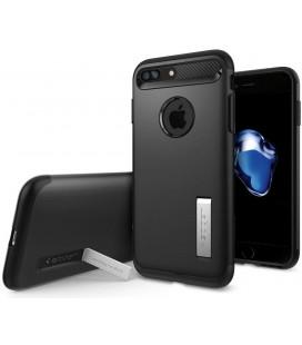 """Juodas dėklas Apple iPhone 7 Plus / 8 Plus telefonui """"Spigen Slim Armor"""""""