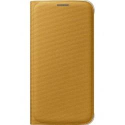 "Originalus geltonas dėklas ""Flip Wallet"" Samsung Galaxy S6 telefonui ef-wg920bye"