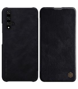 """Odinis juodas atverčiamas dėklas Huawei Honor 20 telefonui """"Nillkin Qin"""""""
