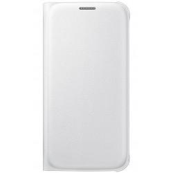 """Originalus baltas dėklas """"Flip Wallet"""" Samsung Galaxy S6 G920 telefonui ef-wg920pwe"""