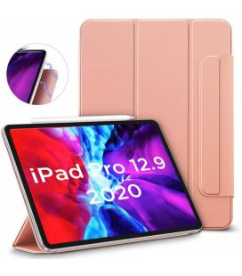 """Rausvai auksinės spalvos atverčiamas dėklas Apple iPad Pro 12.9 2020 planšetei """"ESR Rebound Magnetic"""""""