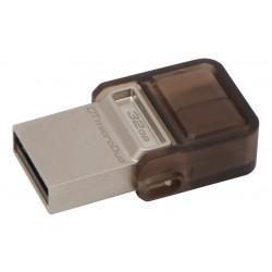 USB/microusb Atmintinė Kingston 32GB DT MicroDuo USB 2.0 micro USB OTG