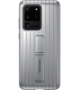 """Originalus sidabrinės spalvos dėklas """"Standing Cover"""" Samsung Galaxy S20 Ultra telefonui """"EF-RG988CSE"""""""
