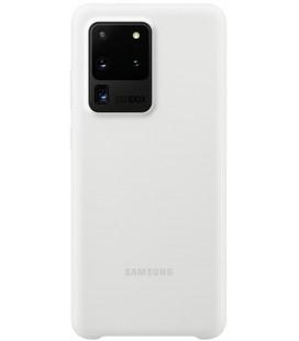 """Originalus baltas dėklas """"Silicone Cover"""" Samsung Galaxy S20 Ultra telefonui """"EF-PG988TWE"""""""