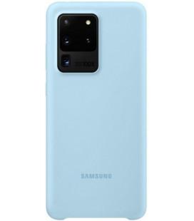 """Originalus šviesiai mėlynas dėklas """"Silicone Cover"""" Samsung Galaxy S20 Ultra telefonui """"EF-PG988TLE"""""""