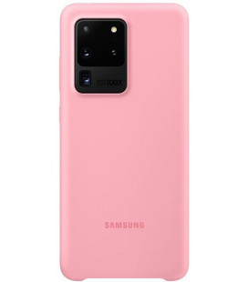 """Originalus rožinis dėklas """"Silicone Cover"""" Samsung Galaxy S20 Ultra telefonui """"EF-PG988TPE"""""""