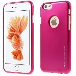 """Rožinis silikoninis dėklas Apple iPhone 6/6s telefonui """"Mercury iJelly Case Metal"""""""