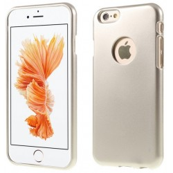 """Auksinės spalvos silikoninis dėklas Apple iPhone 6/6s telefonui """"Mercury iJelly Case Metal"""""""