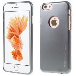 "Pilkas silikoninis dėklas Apple iPhone 6/6s telefonui ""Mercury iJelly Case Metal"""