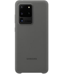 """Originalus pilkas dėklas """"Silicone Cover"""" Samsung Galaxy S20 Ultra telefonui """"EF-PG988TJE"""""""