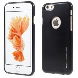 """Juodas silikoninis dėklas Apple iPhone 6/6s telefonui """"Mercury iJelly Case Metal"""""""