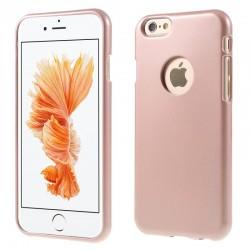 """Rausvai auksinės spalvos silikoninis dėklas Apple iPhone 6/6s telefonui """"Mercury iJelly Case Metal"""""""
