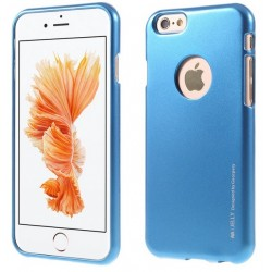 "Mėlynas silikoninis dėklas Apple iPhone 6/6s telefonui ""Mercury iJelly Case Metal"""