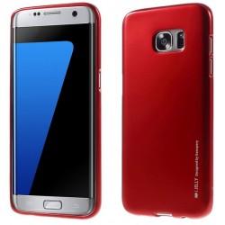 """Raudonas silikoninis dėklas Samsung Galaxy S7 Edge G935 telefonui """"Mercury iJelly Case Metal"""""""