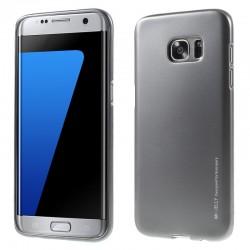 """Pilkas silikoninis dėklas Samsung Galaxy S7 Edge G935 telefonui """"Mercury iJelly Case Metal"""""""