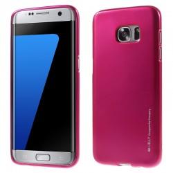 """Rožinis silikoninis dėklas Samsung Galaxy S7 Edge G935 telefonui """"Mercury iJelly Case Metal"""""""