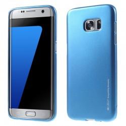 """Mėlynas silikoninis dėklas Samsung Galaxy S7 Edge G935 telefonui """"Mercury iJelly Case Metal"""""""