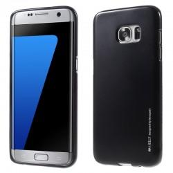 """Juodas silikoninis dėklas Samsung Galaxy S7 Edge G935 telefonui """"Mercury iJelly Case Metal"""""""
