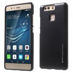 """Juodas silikoninis dėklas Huawei P9 telefonui """"Mercury iJelly Case Metal"""""""