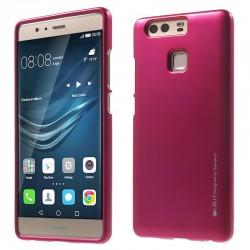 """Rožinis silikoninis dėklas Huawei P9 telefonui """"Mercury iJelly Case Metal"""""""