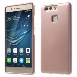 """Rausvai auksinės spalvos silikoninis dėklas Huawei P9 telefonui """"Mercury iJelly Case Metal"""""""