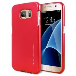 """Raudonas silikoninis dėklas Samsung Galaxy S6 G920 telefonui """"Mercury iJelly Case Metal"""""""