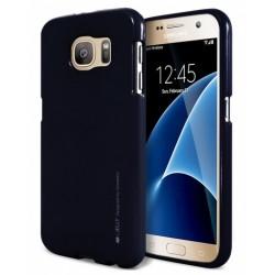 """Juodas silikoninis dėklas Samsung Galaxy S6 G920 telefonui """"Mercury iJelly Case Metal"""""""