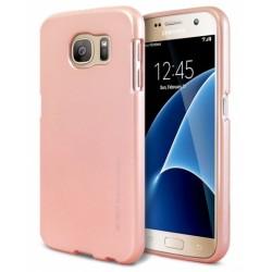 """Rausvai auksinės spalvos silikoninis dėklas Samsung Galaxy S6 G920 telefonui """"Mercury iJelly Case Metal"""""""