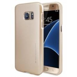 """Auksinės spalvos silikoninis dėklas Samsung Galaxy S6 G920 telefonui """"Mercury iJelly Case Metal"""""""