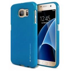 """Mėlynas silikoninis dėklas Samsung Galaxy S6 G920 telefonui """"Mercury iJelly Case Metal"""""""