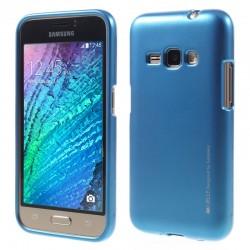 """Mėlynas silikoninis dėklas Samsung Galaxy J1 2016 J120 telefonui """"Mercury iJelly Case Metal"""""""