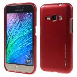 """Raudonas silikoninis dėklas Samsung Galaxy J1 2016 J120 telefonui """"Mercury iJelly Case Metal"""""""
