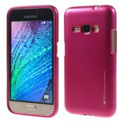 """Rožinis silikoninis dėklas Samsung Galaxy J1 2016 J120 telefonui """"Mercury iJelly Case Metal"""""""