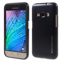 """Juodas silikoninis dėklas Samsung Galaxy J1 2016 J120 telefonui """"Mercury iJelly Case Metal"""""""