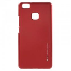 """Raudonas silikoninis dėklas Huawei P9 Lite telefonui """"Mercury iJelly Case Metal"""""""