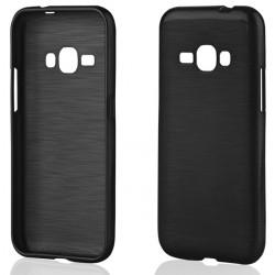 """Juodas silikoninis dėklas Samsung Galaxy J1 2016 J120 telefonui """"Jelly Metallic"""""""