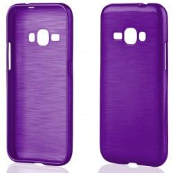 """Violetinis silikoninis dėklas Samsung Galaxy J1 2016 J120 telefonui """"Jelly Metallic"""""""