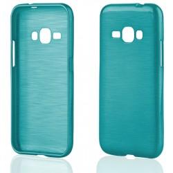 """Mėlynas silikoninis dėklas Samsung Galaxy J1 2016 J120 telefonui """"Jelly Metallic"""""""