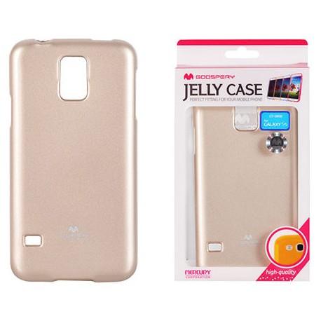 """Auksinės spalvos dėklas Mercury Goospery """"Jelly Case"""" Samsung Galaxy S5 telefonui"""