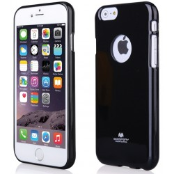"""Juodas dėklas Mercury Goospery """"Jelly Case"""" Apple iPhone 6/6s telefonui"""