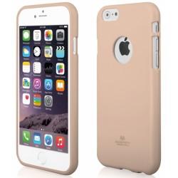 """Auksinės spalvos dėklas Mercury Goospery """"Jelly Case"""" Apple iPhone 6/6s telefonui"""