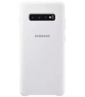 """Originalus baltas dėklas """"Silicone Cover"""" Samsung Galaxy S10 telefonui """"EF-PG973TWE"""""""