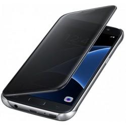 """Originalus atverčiamas juodas dėklas """"Clear View Cover"""" Samsung Galaxy S7 Edge G935 telefonui ef-zg935cbe"""