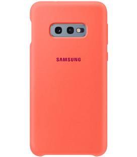 """Originalus rožinis dėklas """"Silicone Cover"""" Samsung Galaxy S10E telefonui """"EF-PG973THE"""""""