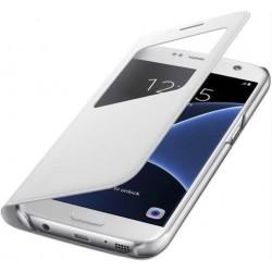 """Originalus atverčiamas juodas dėklas """"S View Cover"""" Samsung Galaxy S7 G930 telefonui ef-cg930pwe"""