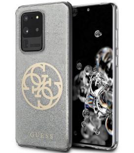 "Pilkas dėklas Samsung Galaxy S20 Ultra telefonui ""GUHCS69PCUGLLG Guess 4G Glitter Circle Cover"""