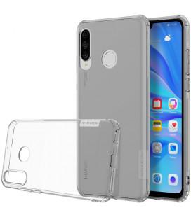 """Skaidrus/pilkas silikoninis dėklas Huawei P30 Lite telefonui """"Nillkin Nature"""""""