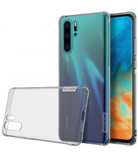 """Skaidrus/pilkas silikoninis dėklas Huawei P30 Pro telefonui """"Nillkin Nature"""""""