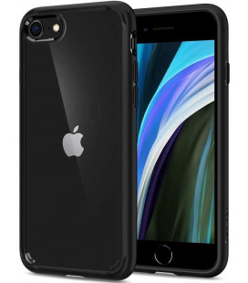 "Juodas dėklas Apple iPhone 7/8/SE 2020 telefonui ""Spigen Ultra Hybrid"""
