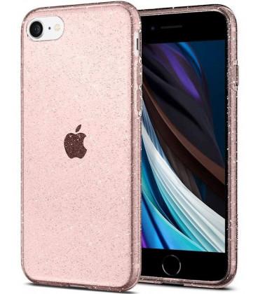 "Rožinis dėklas su blizgučiais Apple iPhone 7/8/SE 2020 telefonui ""Spigen Liquid Crystal Glitter"""